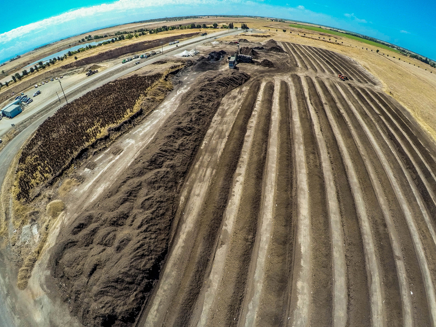 Agricultural (Soil Plant) Aerial Photography Sacramento