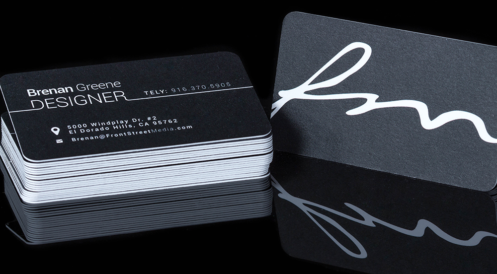 Front Street Media Business Cards Luxe