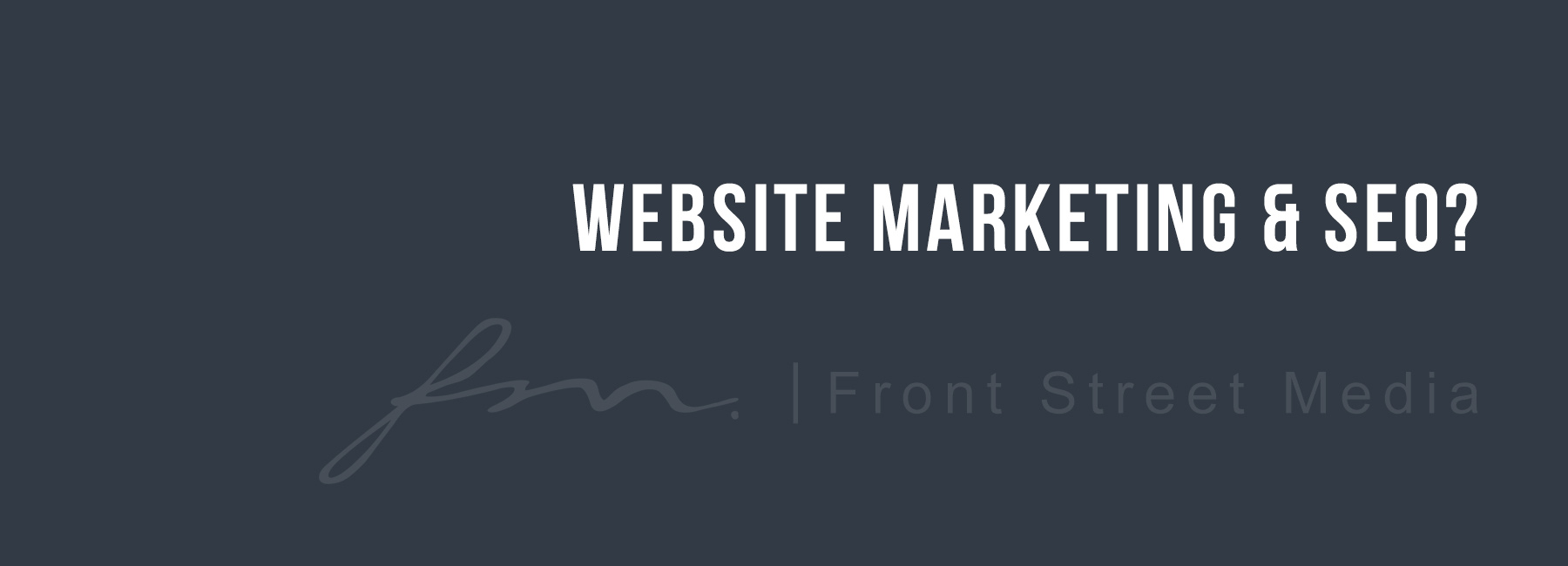 website marketin and SEO