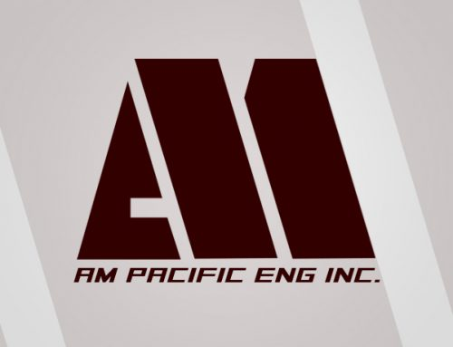 AM Pacific Engineering Logo Design