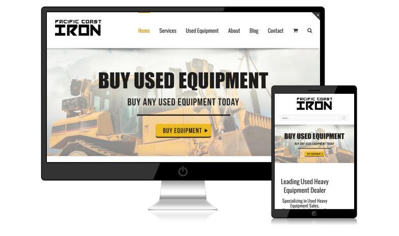 Pacific Coast Iron Website Design