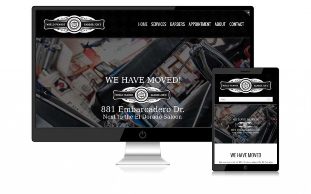 Barber Jon El Dorado Hills Website Design