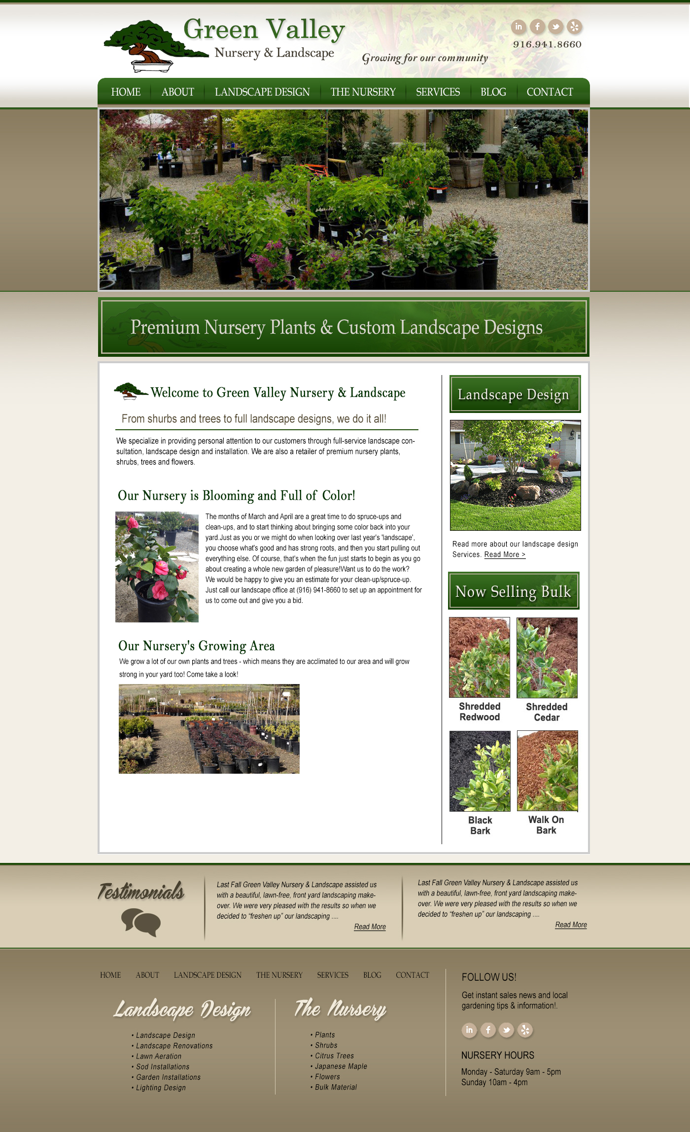 Green Valley Nursery Website Design