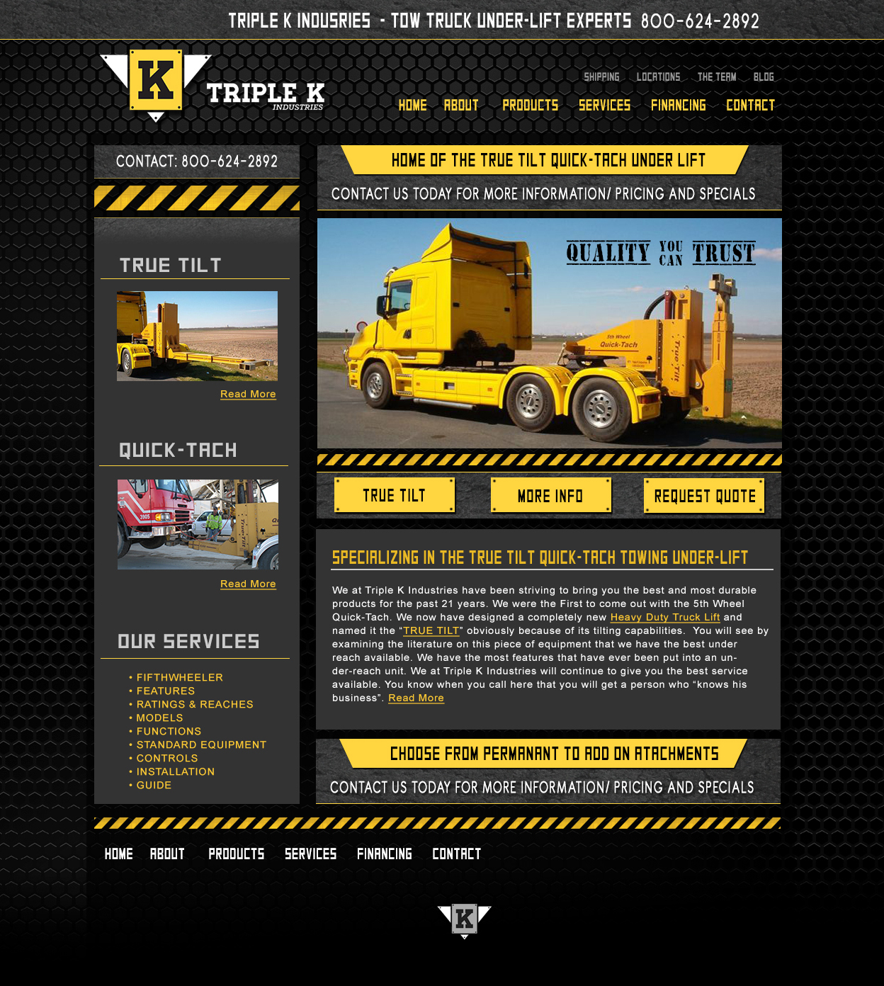 Triple K Industries Web Design and Graphic Design Project