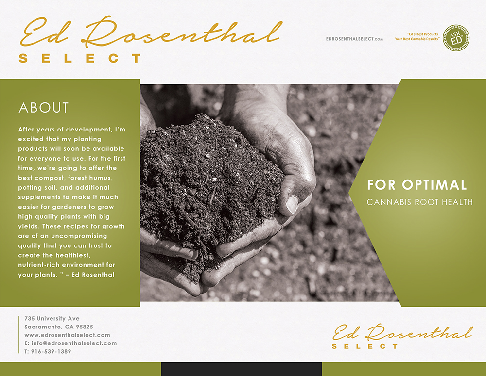 Ed Rosenthal Soil Brochure Graphic Design - Outside