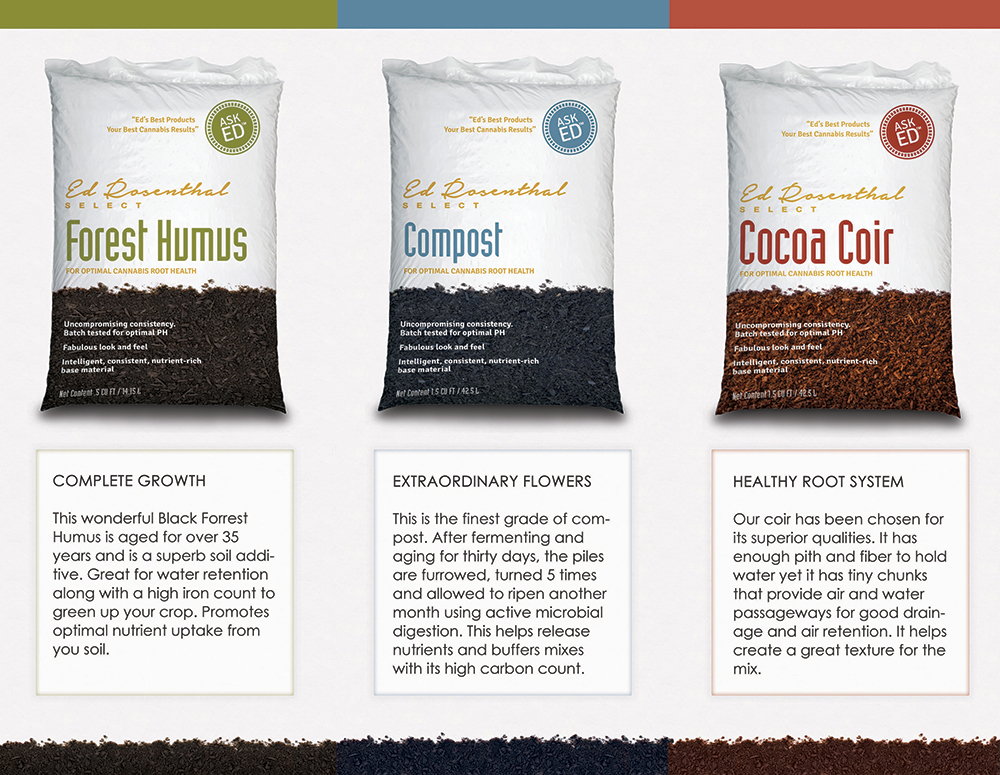 Ed Rosenthal Soil Brochure Graphic Design - Inside