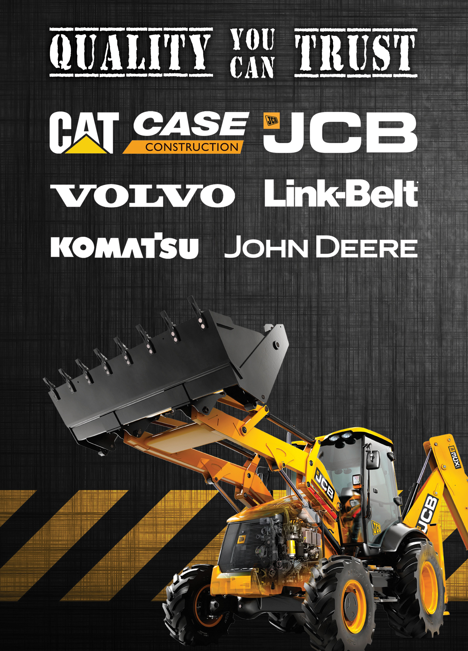 Construction Equipment Flyer Graphic Design