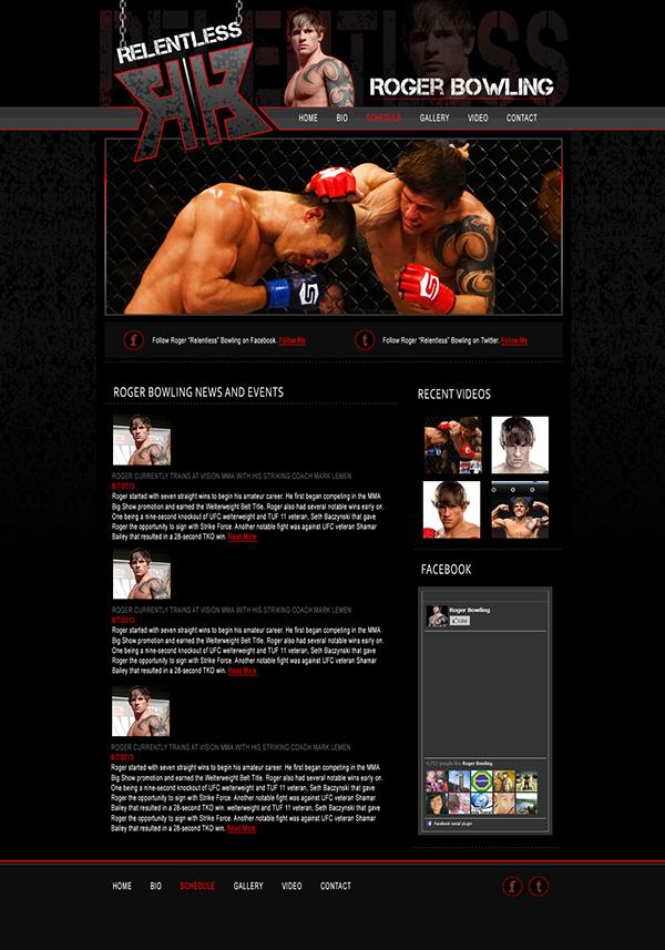 Roger Bowling Website Design