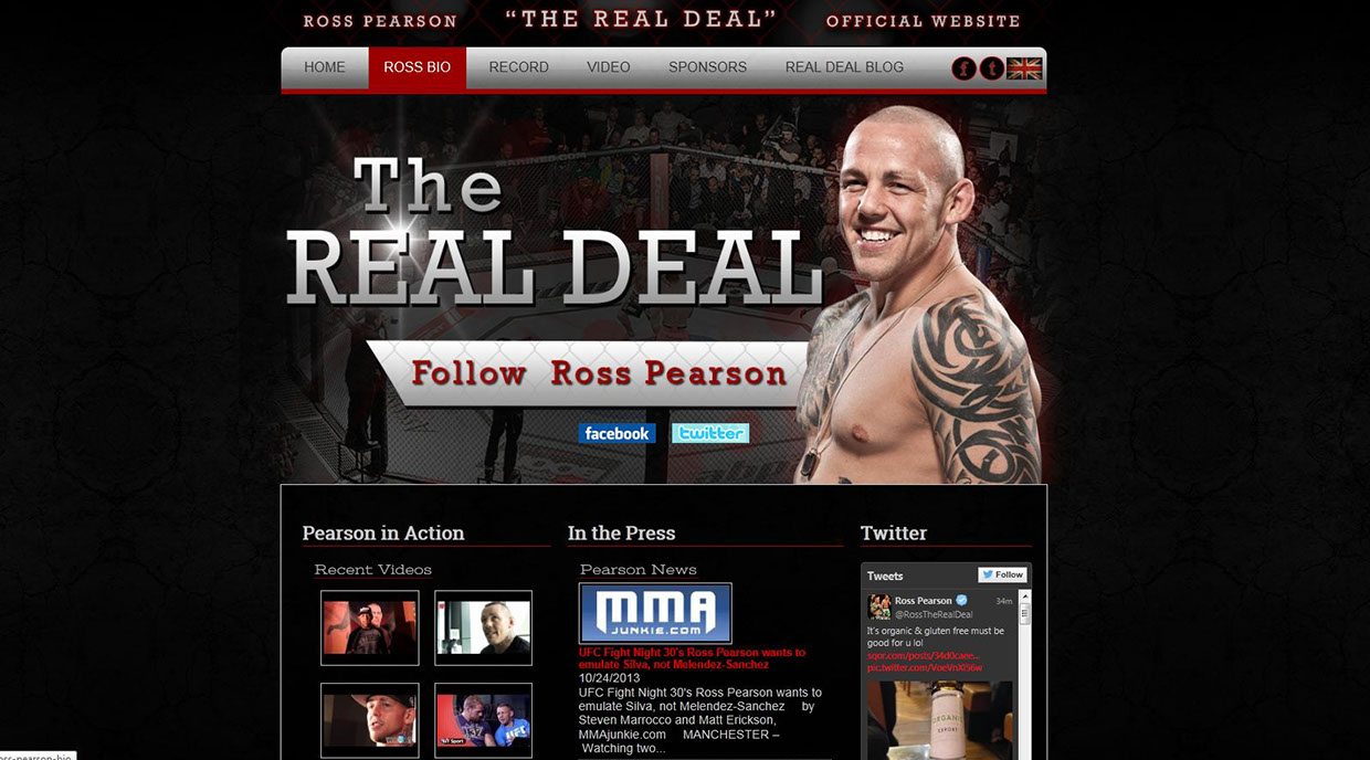 Ross Pearson Website Design