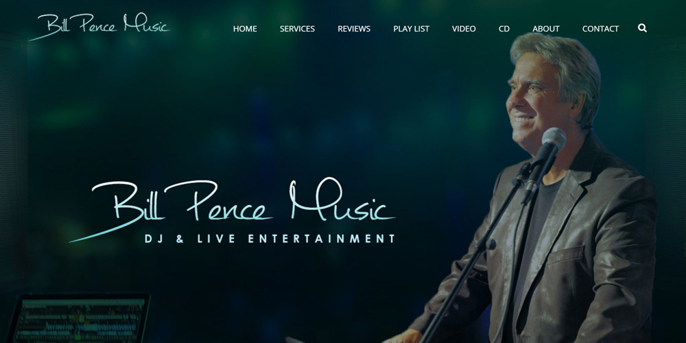 Bill Pence Music Website Design