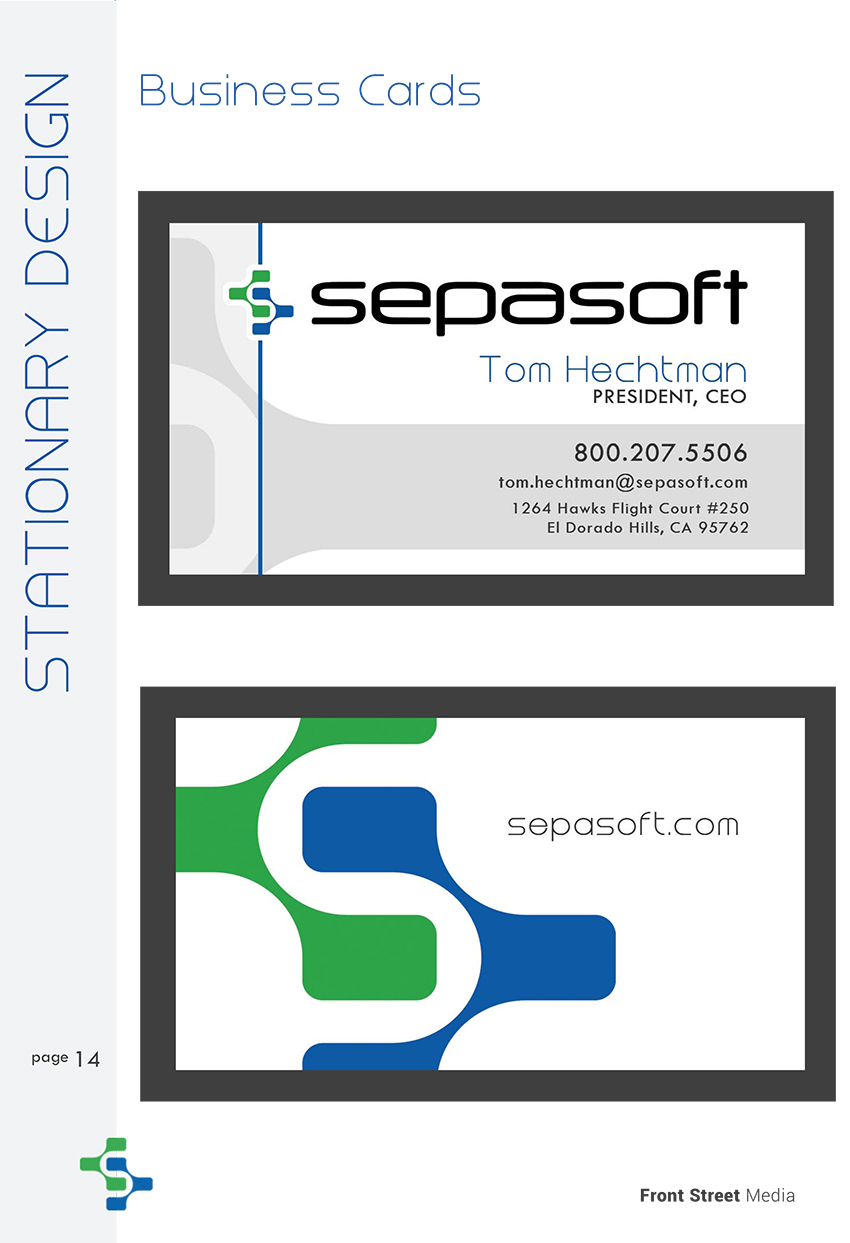 Brand Identity Design Sacramento - Business Card Design