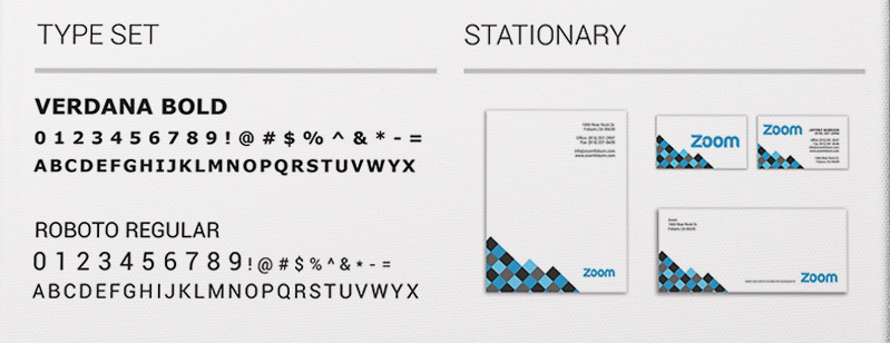 Brand Identity Style Guide - Fonts and Stationary