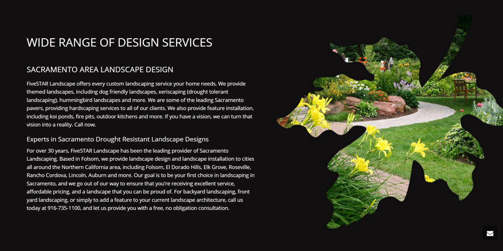 FiveSTAR Landscape Design - Website Design