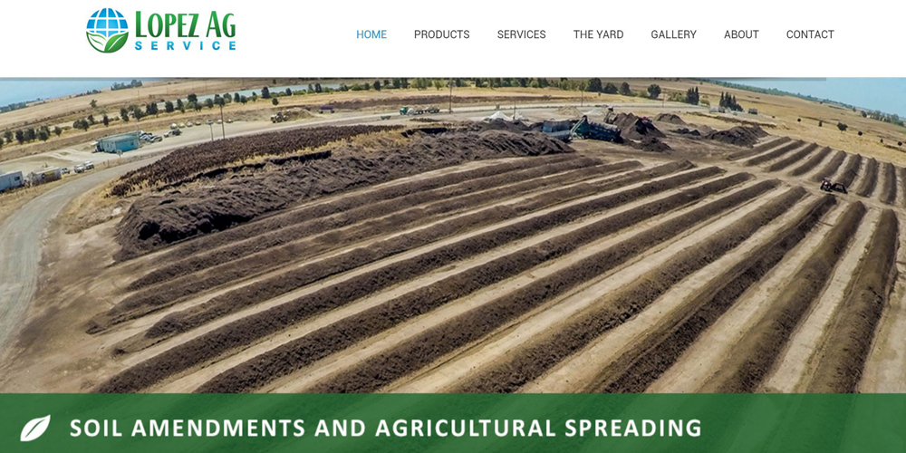 Lopez Ag Service Website Design