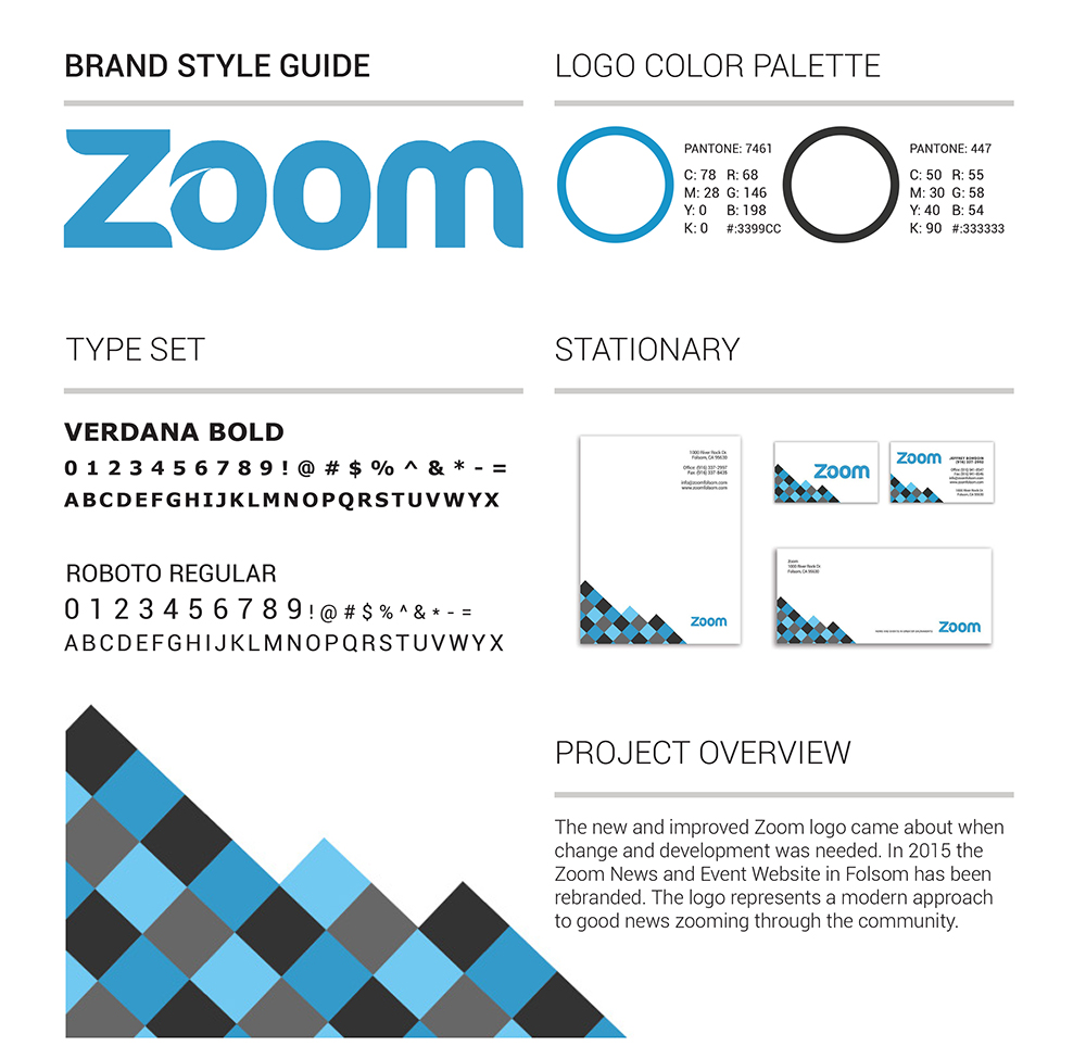 Zoom Brand Identity Logo Style Guide