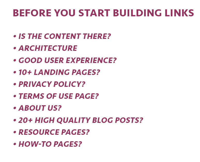 Before Building Backlinks