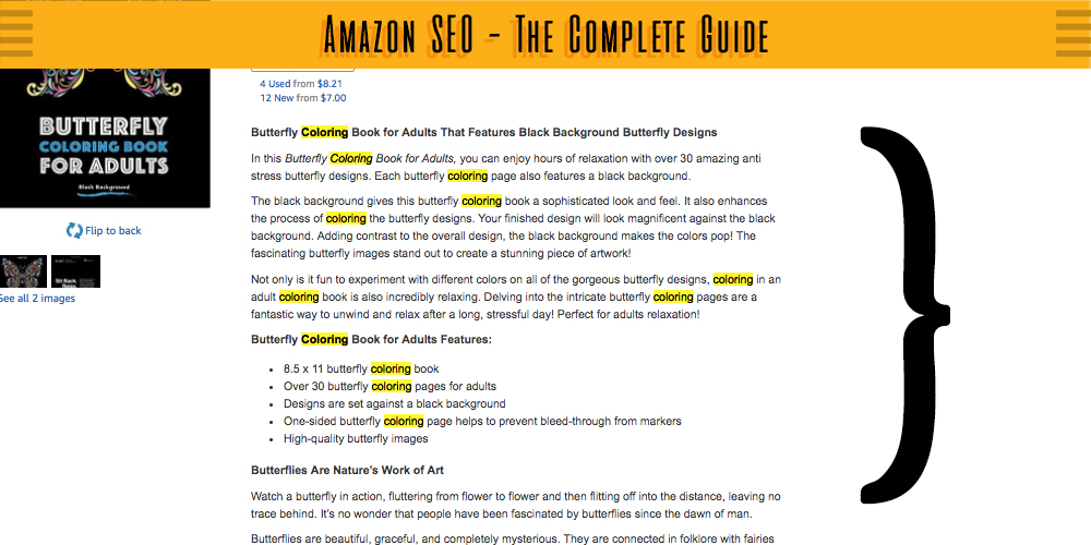 Amazon SEO - Product Description SEO