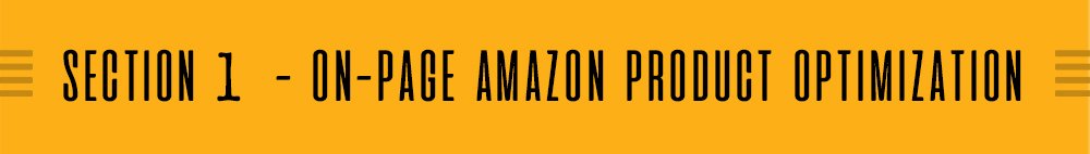 Amazon Product Optimization (APO)