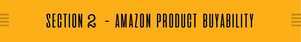 AMAZON PRODUCT BUYABILITY