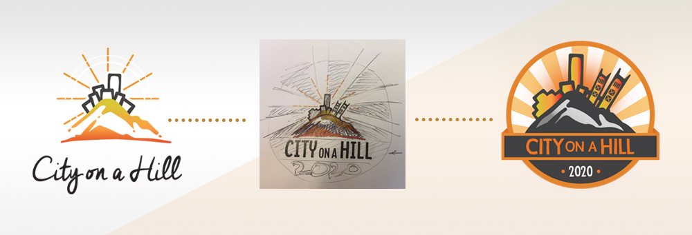 City On A Hill Church Logo Design - The Process