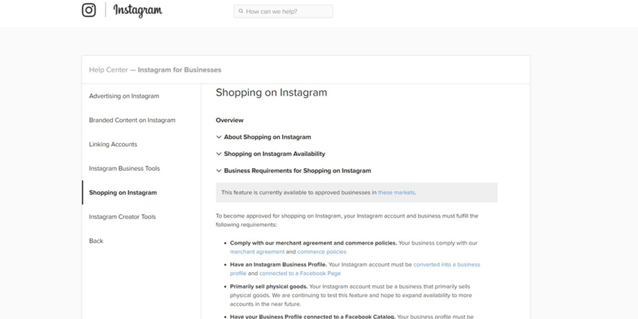 Instagram - eCommerce Site